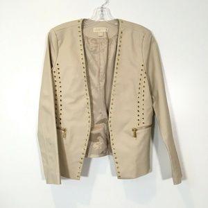 Michael Kors Beige Long Sleeve Blazer Jacket